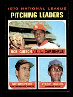 NL Pitching Leaders (Bob Gibson, Gaylord Perry, Fergie Jenkins) [NM+]