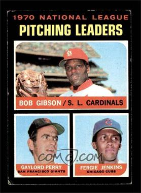 1971 Topps - [Base] #70 - NL Pitching Leaders (Bob Gibson, Gaylord Perry, Fergie Jenkins) [EX]