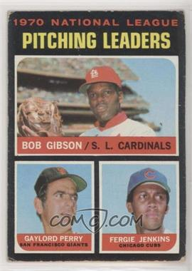 1971 Topps - [Base] #70 - National League Pitching Leaders (Bob Gibson, Gaylord Perry, Fergie Jenkins) [GoodtoVG‑EX]