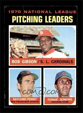 1971 Topps - [Base] #70 - National League Pitching Leaders (Bob Gibson, Gaylord Perry, Fergie Jenkins) [EX]