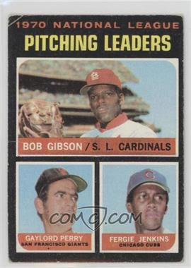 1971 Topps - [Base] #70 - National League Pitching Leaders (Bob Gibson, Gaylord Perry, Fergie Jenkins) [Good to VG‑EX]