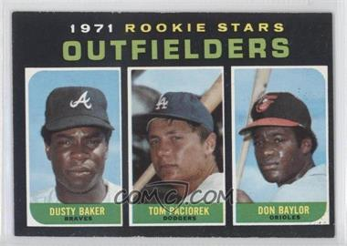 1971 Topps - [Base] #709 - Dusty Baker, Tom Paciorek, Don Baylor