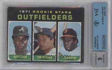 1971 Topps - [Base] #709 - Dusty Baker, Tom Paciorek, Don Baylor [BGS/JSA Certified Auto]