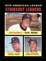 AL Strikeout Leaders (Sam McDowell, Mickey Lolich, Bob Johnson) [NM]