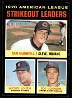 AL Strikeout Leaders (Sam McDowell, Mickey Lolich, Bob Johnson) [NM+]