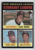 AL Strikeout Leaders (Sam McDowell, Mickey Lolich, Bob Johnson) [Poor]