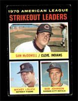 Strikeout Leaders (Sam McDowell, Mickey Lolich, Bob Johnson) [VGEX]