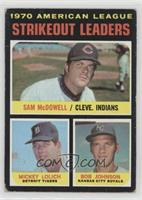 Strikeout Leaders (Sam McDowell, Mickey Lolich, Bob Johnson) [Poor to …