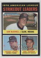 Strikeout Leaders (Sam McDowell, Mickey Lolich, Bob Johnson)