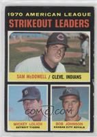 Strikeout Leaders (Sam McDowell, Mickey Lolich, Bob Johnson) [Good to …