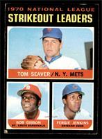 NL Strikeout Leaders (Tom Seaver, Bob Gibson, Fergie Jenkins) [GOOD]