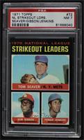 NL Strikeout Leaders (Tom Seaver, Bob Gibson, Fergie Jenkins) [PSA7…
