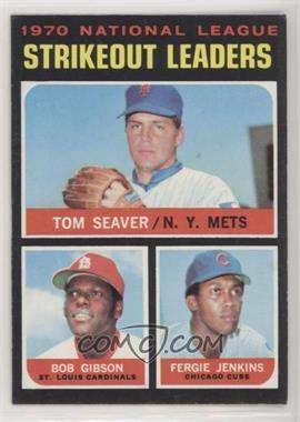 1971 Topps - [Base] #72 - NL Strikeout Leaders (Tom Seaver, Bob Gibson, Fergie Jenkins) [Altered]