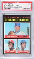 NL Strikeout Leaders (Tom Seaver, Bob Gibson, Fergie Jenkins) [PSA5…