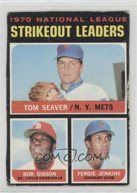 1971 Topps - [Base] #72 - Tom Seaver, Bob Gibson, Fergie Jenkins [Poor]