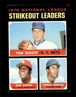 1971 Topps - [Base] #72 - Tom Seaver, Bob Gibson, Fergie Jenkins [VGEX]