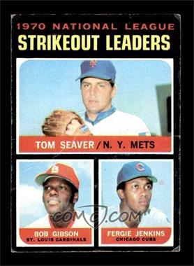 1971 Topps - [Base] #72 - Tom Seaver, Bob Gibson, Fergie Jenkins [FAIR]