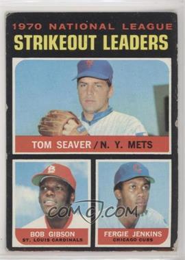 1971 Topps - [Base] #72 - Tom Seaver, Bob Gibson, Fergie Jenkins [GoodtoVG‑EX]