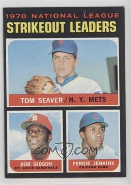 1971 Topps - [Base] #72 - Tom Seaver, Bob Gibson, Fergie Jenkins