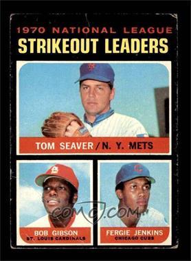 1971 Topps - [Base] #72 - Tom Seaver, Bob Gibson, Fergie Jenkins [GOOD]