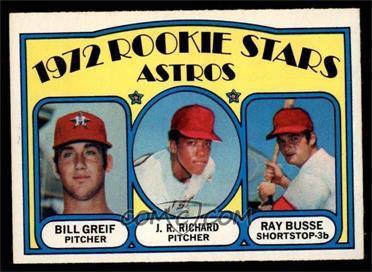 1972 O-Pee-Chee - [Base] #101 - Bill Greif, J.R. Richard, Ray Busse [NM]