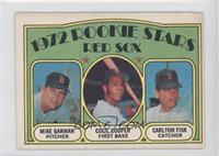 Mike Garman, Cecil Cooper, Carlton Fisk [Good to VG‑EX]
