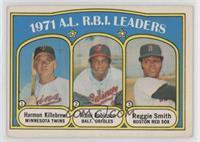 1971 A.L. R.B.I. Leaders - Frank Robinson, Reggie Smith, Harmon Killebrew [EX&n…