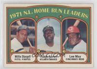 1971 N.L. Home Run Leaders - Willie Stargell, Hank Aaron, Lee May