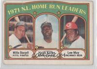 1971 N.L. Home Run Leaders - Willie Stargell, Hank Aaron, Lee May [Poor]