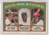 1971 N.L. Home Run Leaders - Willie Stargell, Hank Aaron, Lee May [Poorto…