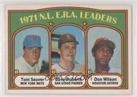 1971 N.L. E.R.A. Leaders - Tom Seaver, Dave Roberts, Don Wilson [Goodto&n…