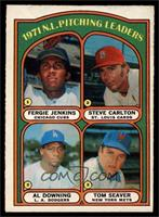 1971 N.L. Pitching Leaders - Fergie Jenkins, Steve Carlton, Al Downing, Tom Sea…