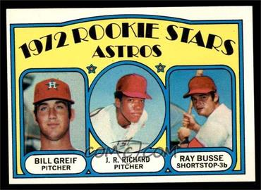 1972 Topps - [Base] #101 - Rookie Stars Astros (Bill Greif, J.R. Richard, Ray Busse) [EXMT]