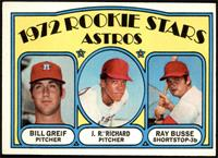 Rookie Stars Astros (Bill Greif, J.R. Richard, Ray Busse) [EX]