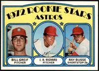 Rookie Stars Astros (Bill Greif, J.R. Richard, Ray Busse) [EX MT]