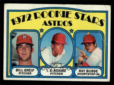 1972 Topps - [Base] #101 - Rookie Stars Astros (Bill Greif, J.R. Richard, Ray Busse) [VG]