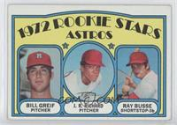 Rookie Stars Astros (Bill Greif, J.R. Richard, Ray Busse) [Noted]