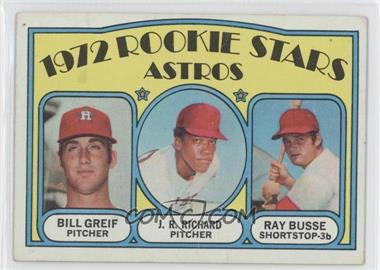 1972 Topps - [Base] #101 - Rookie Stars Astros (Bill Greif, J.R. Richard, Ray Busse) [Poor to Fair]