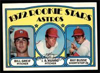 Rookie Stars Astros (Bill Greif, J.R. Richard, Ray Busse) [NM]