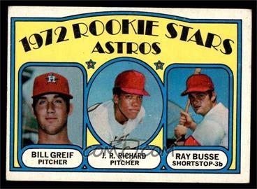 1972 Topps - [Base] #101 - Rookie Stars Astros (Bill Greif, J.R. Richard, Ray Busse) [VG]
