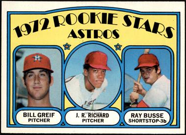 1972 Topps - [Base] #101 - Rookie Stars Astros (Bill Greif, J.R. Richard, Ray Busse) [NM MT]