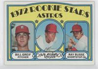 Rookie Stars Astros (Bill Greif, J.R. Richard, Ray Busse)