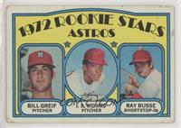 Rookie Stars Astros (Bill Greif, J.R. Richard, Ray Busse) [Poor to Fa…