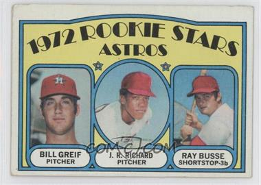 1972 Topps - [Base] #101 - Rookie Stars Astros (Bill Greif, J.R. Richard, Ray Busse) [Good to VG‑EX]