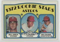 Rookie Stars Astros (Bill Greif, J.R. Richard, Ray Busse) [GoodtoVG…
