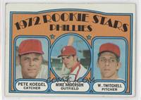 Rookie Stars Phillies (Pete Koegel, Mike Anderson, Wayne Twitchell) [Good …