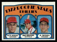 Rookie Stars Phillies (Pete Koegel, Mike Anderson, Wayne Twitchell) [NMMT]