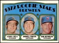 Rookie Stars Brewers (Jerry Bell, Darrell Porter, Bob Reynolds) [EXMT]