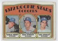 Rookie Stars (Charlie Hough, Bob O'Brien, Mike Strahler) [Poor]
