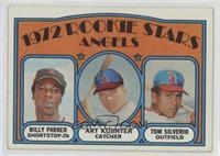 Rookie Stars Angels (Billy Parker, Art Kusnyer, Tom Silverio)